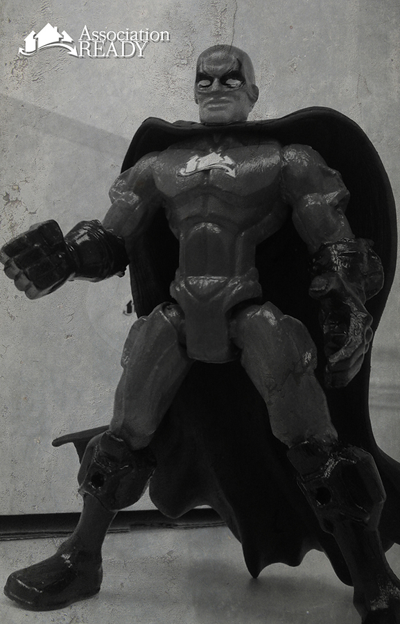 AR Man Custom Action Figure Black & White